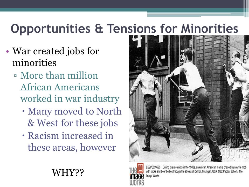 Opportunities & Tensions for Minorities