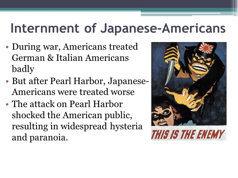 Internment of Japanese-Americans