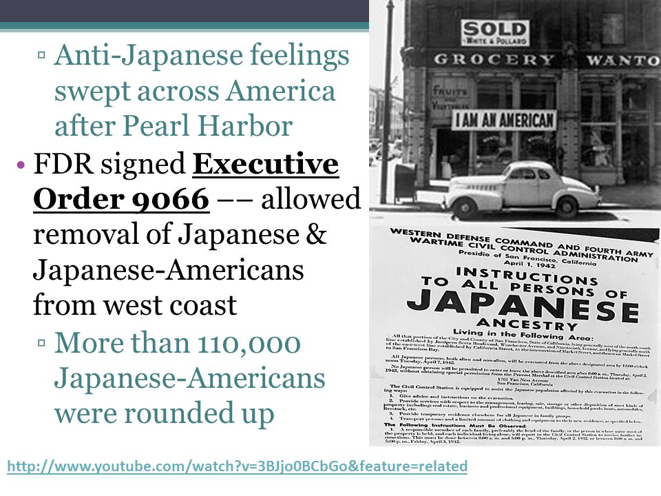 Anti-Japanese feelings swept across America after Pearl Harbor