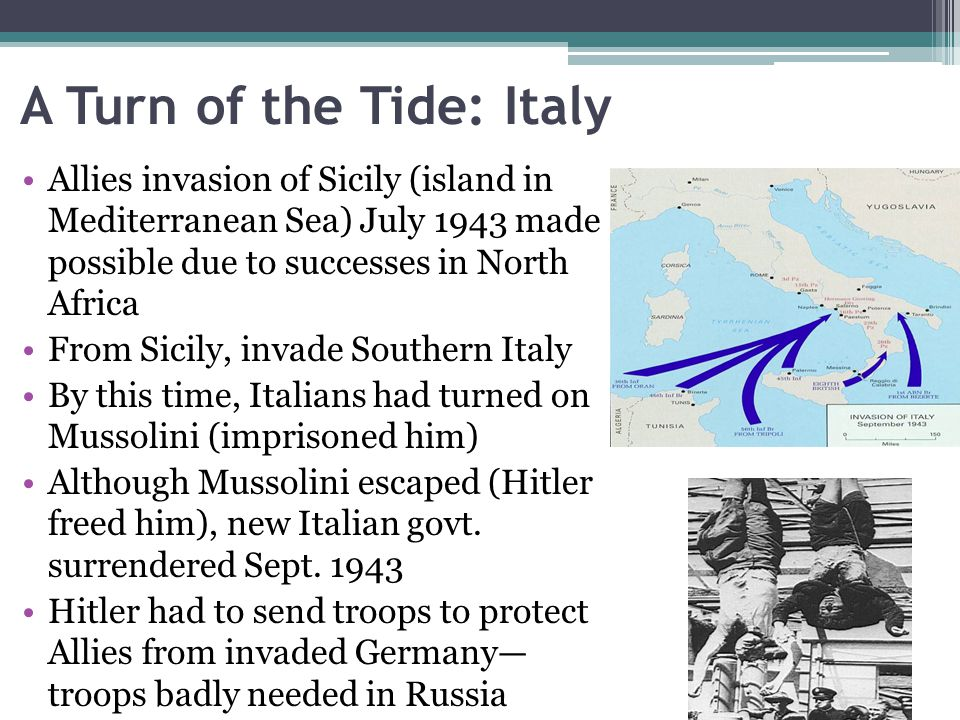 A Turn of the Tide: Italy