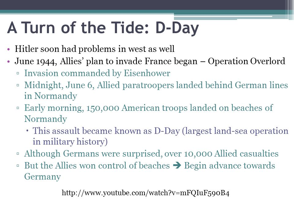A Turn of the Tide: D-Day