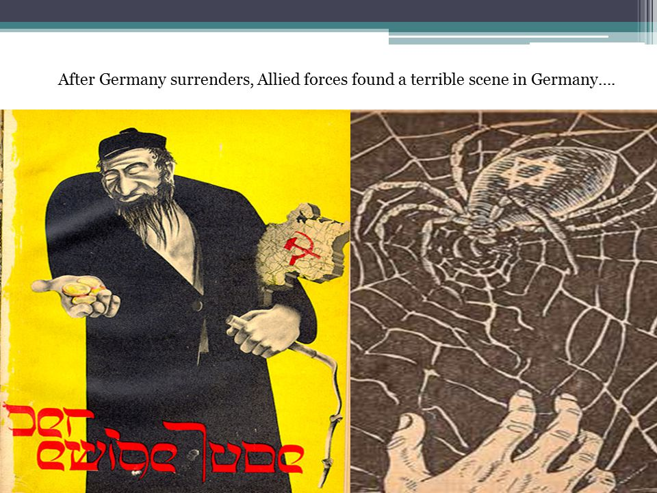 After Germany surrenders, Allied forces found a terrible scene in Germany….