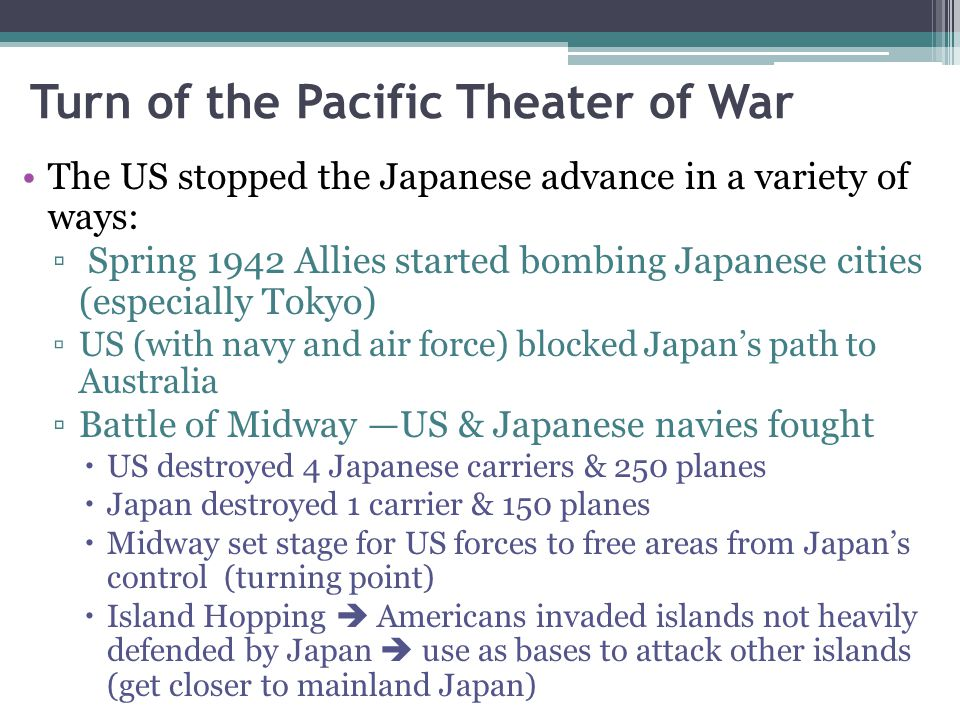 Turn of the Pacific Theater of War