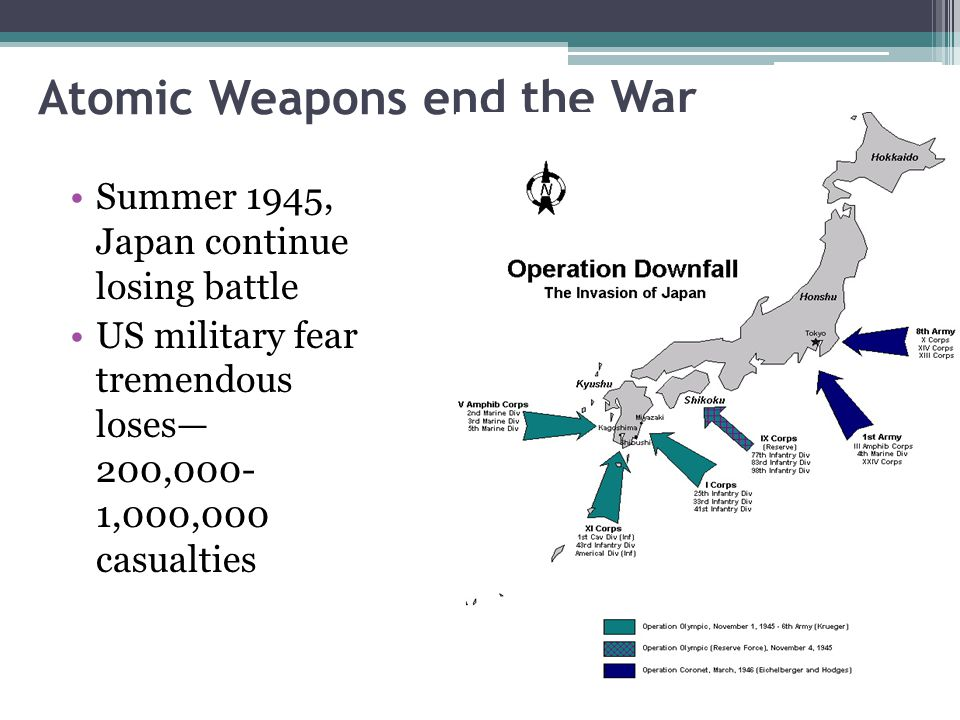 Atomic Weapons end the War