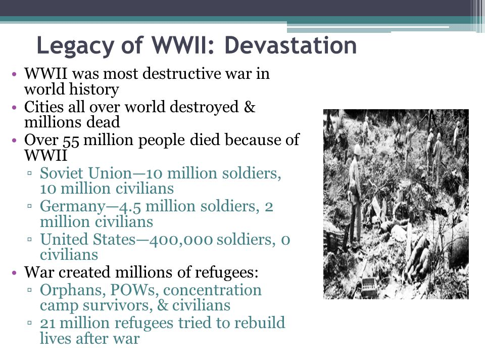 Legacy of WWII: Devastation