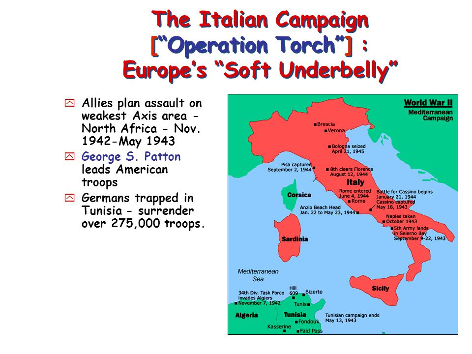 The Italian Campaign [ Operation Torch ] : Europe's Soft Underbelly