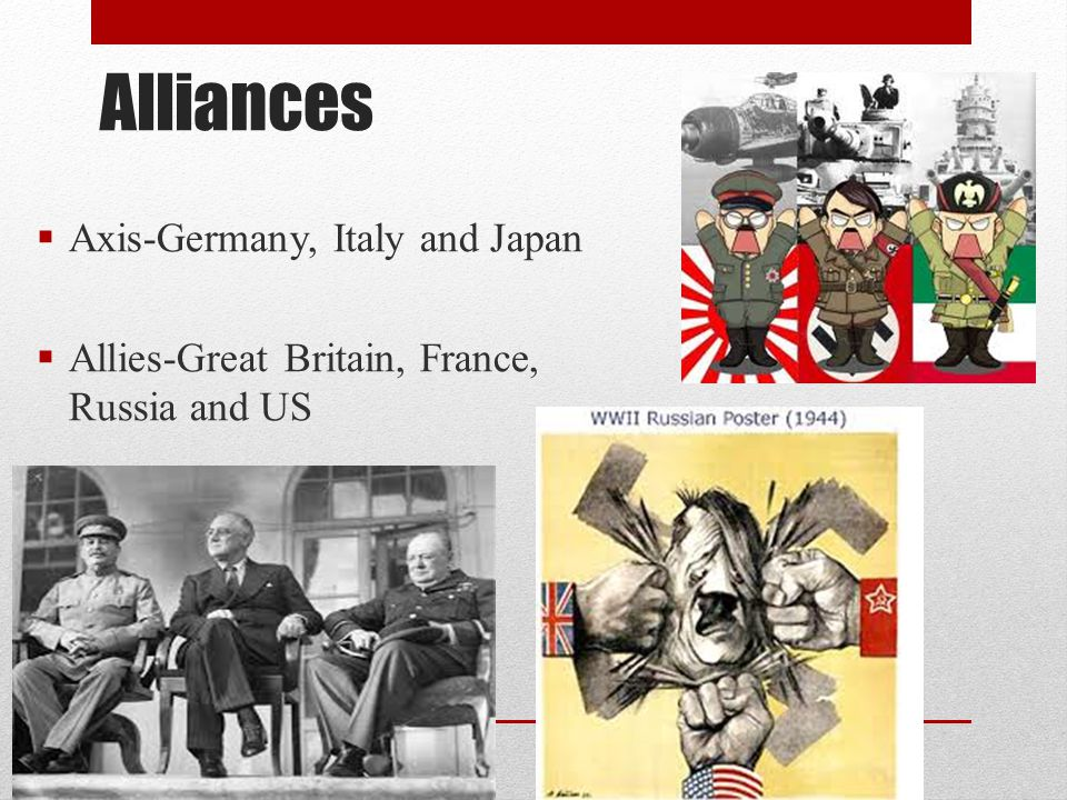 Alliances Axis-Germany, Italy and Japan