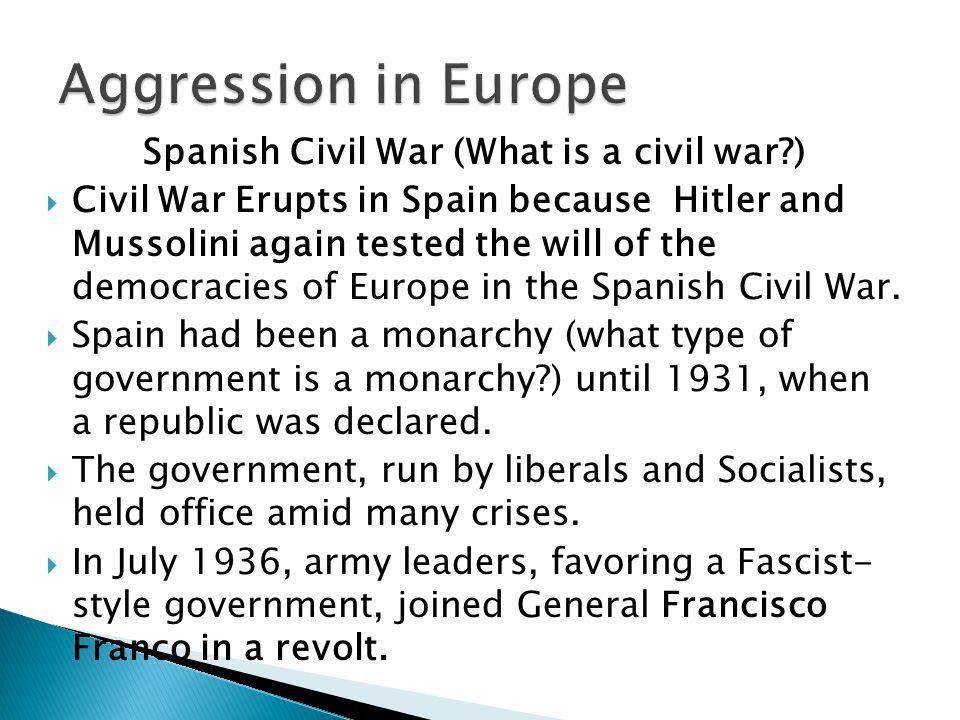 Spanish Civil War (What is a civil war )