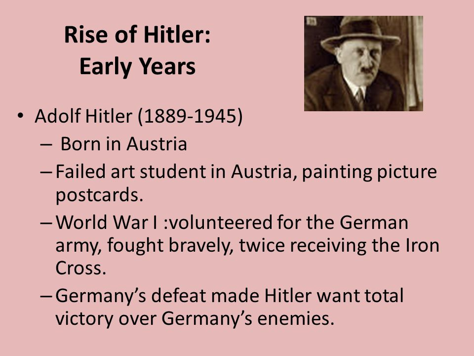 Rise of Hitler: Early Years