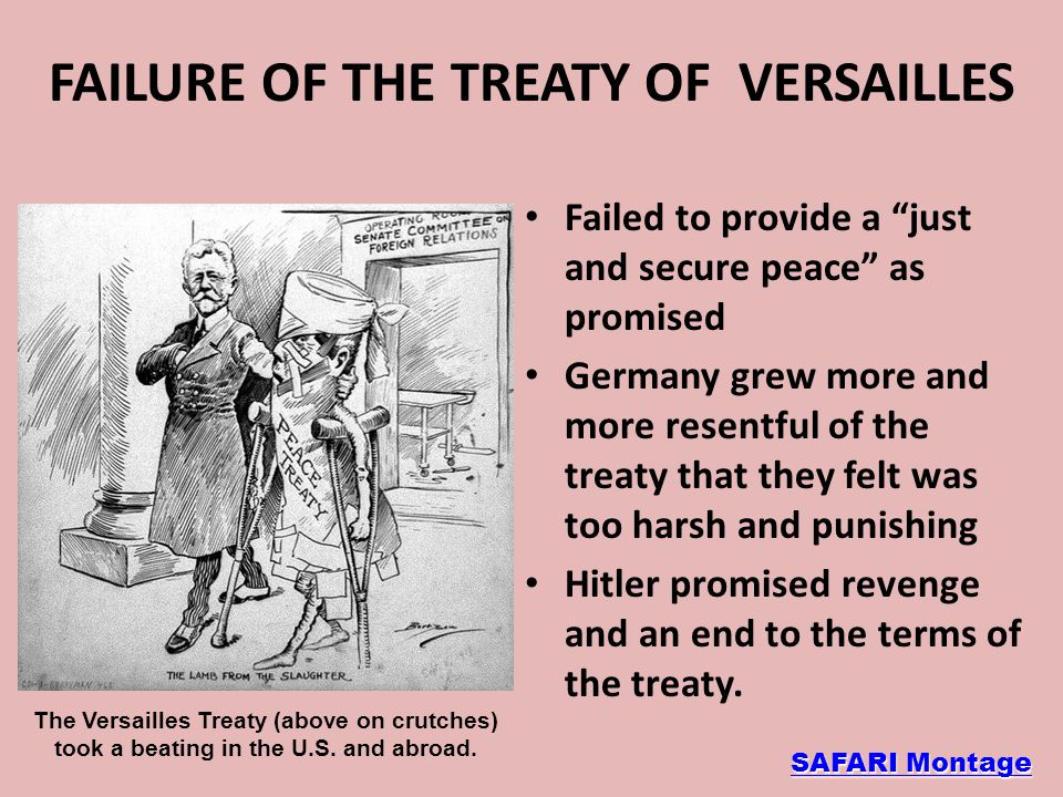 FAILURE OF THE TREATY OF VERSAILLES