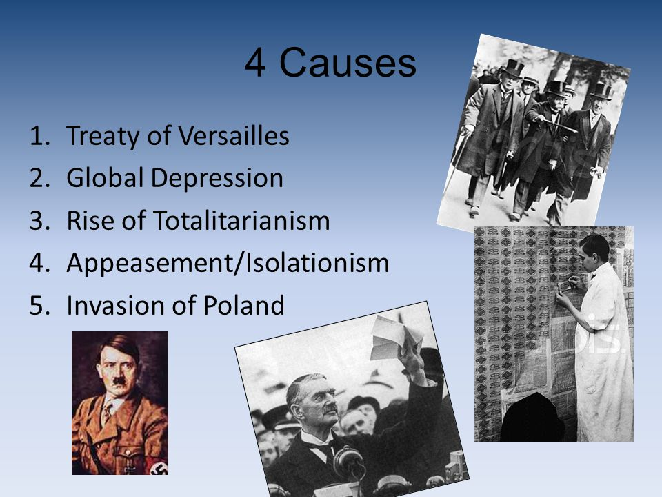 4 Causes Treaty of Versailles Global Depression