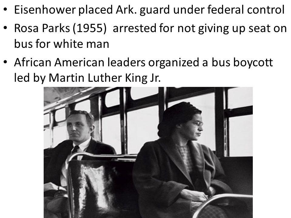 Eisenhower placed Ark. guard under federal control
