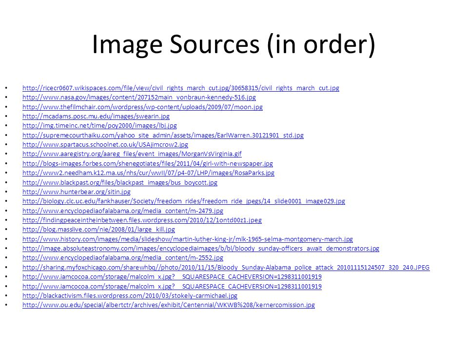 Image Sources (in order)