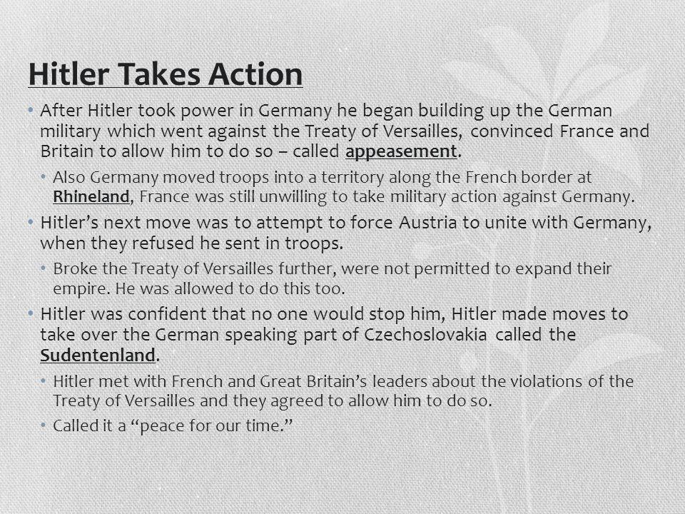 Hitler Takes Action