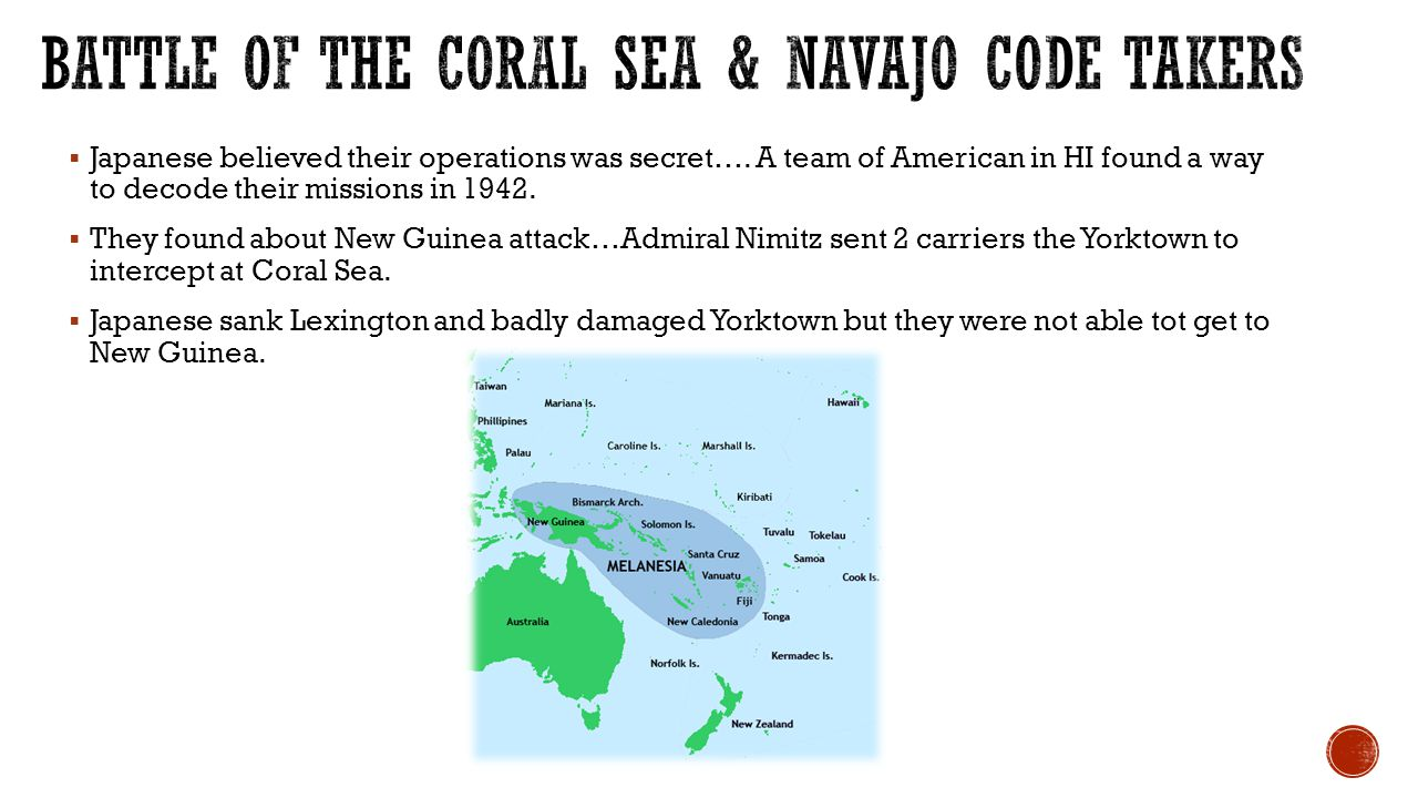Battle of the Coral Sea & Navajo code takers