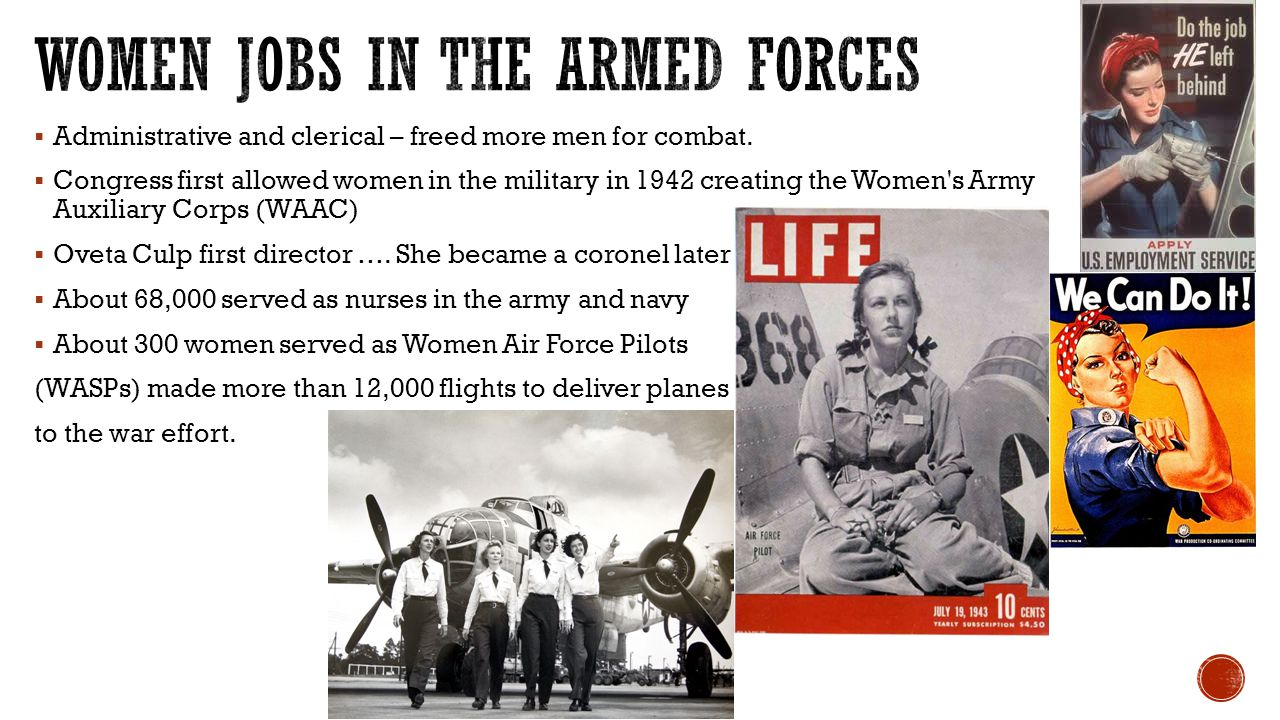 Women Jobs in the Armed Forces