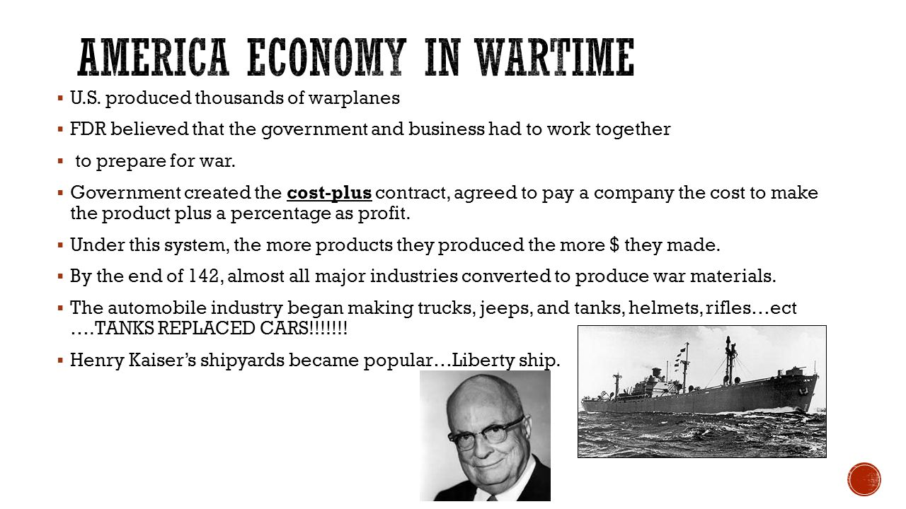 America Economy in WARTIME