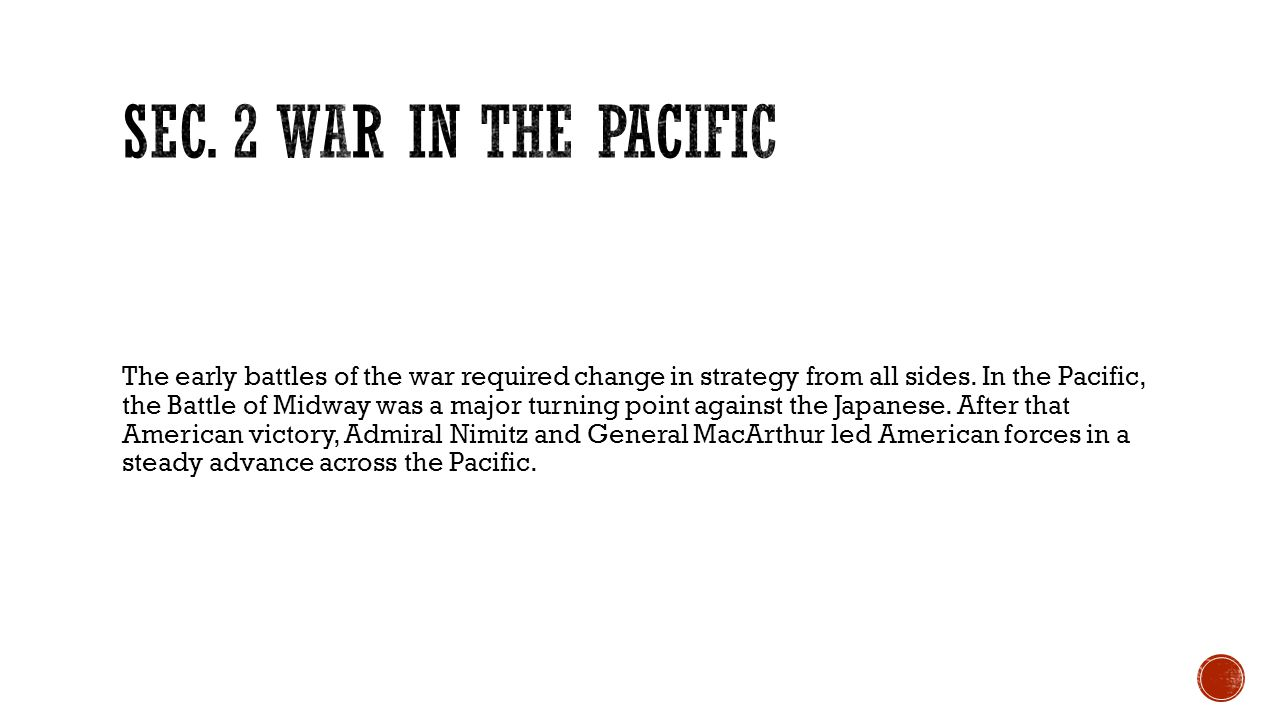 Sec. 2 War in the Pacific