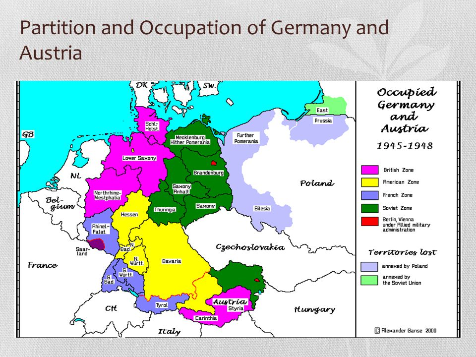 Partition and Occupation of Germany and Austria