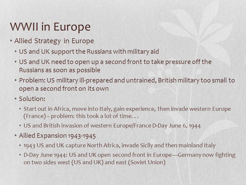 WWII in Europe Allied Strategy in Europe