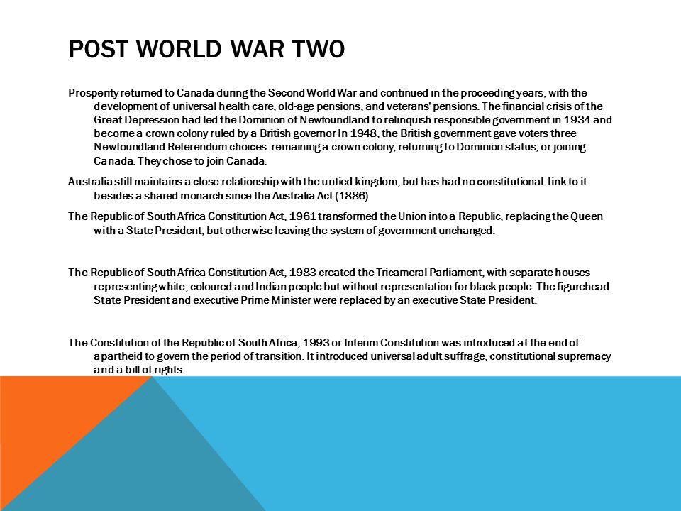 Post World War Two