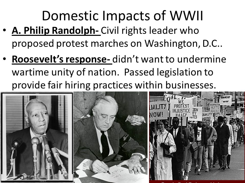 Domestic Impacts of WWII