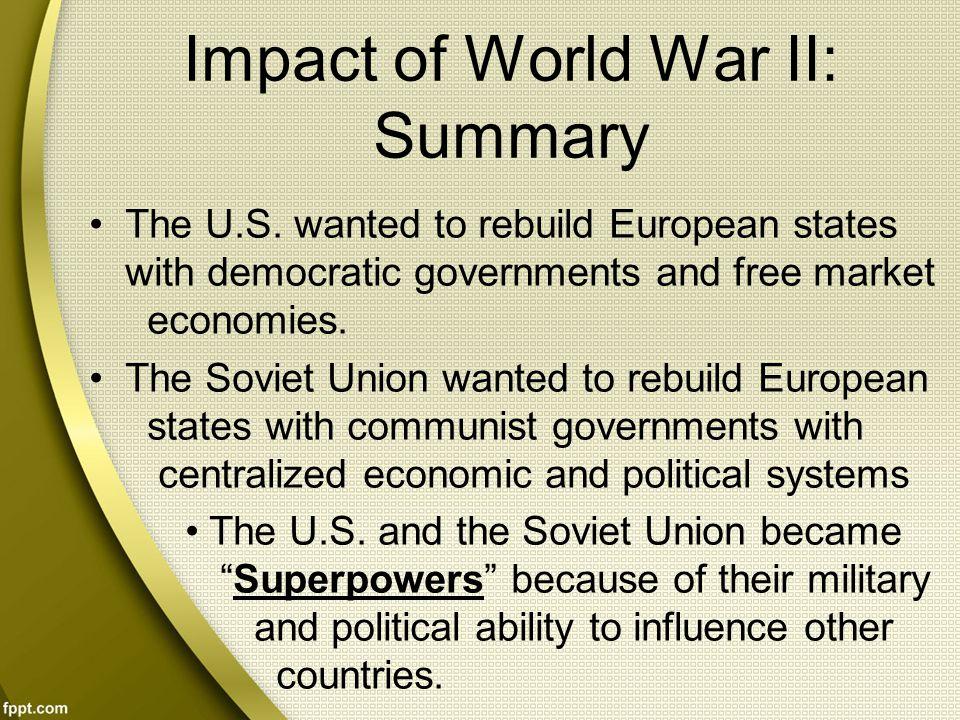 Impact of World War II: Summary
