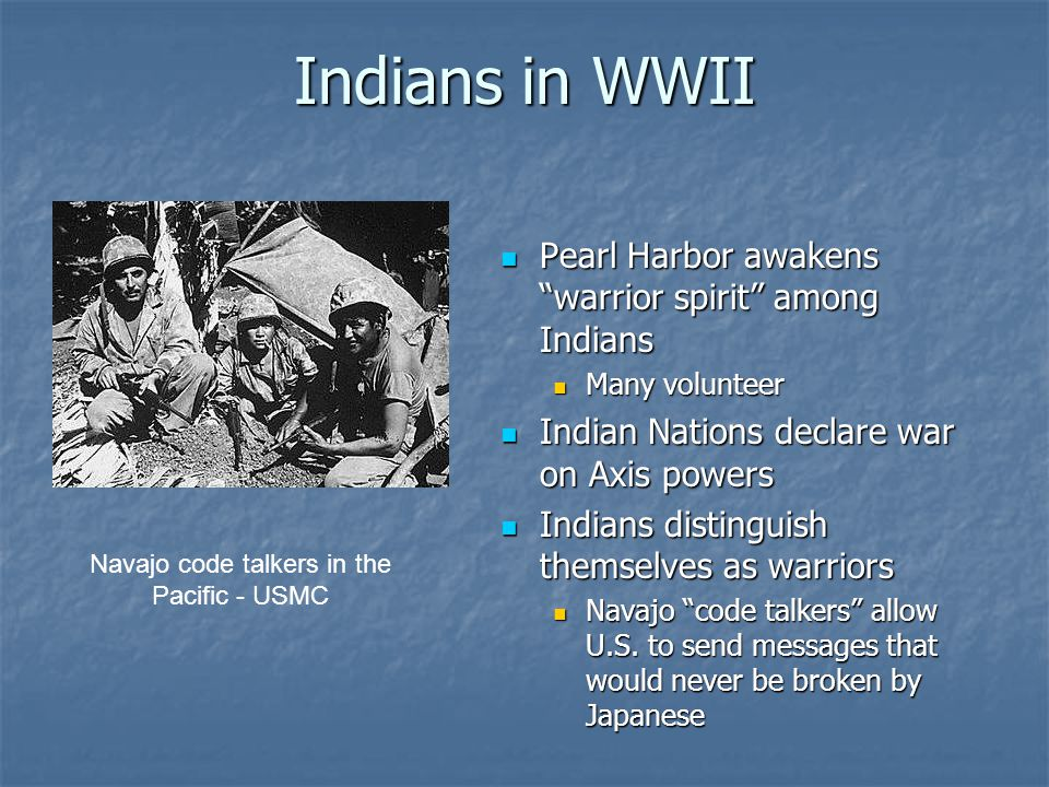 Navajo code talkers in the Pacific - USMC