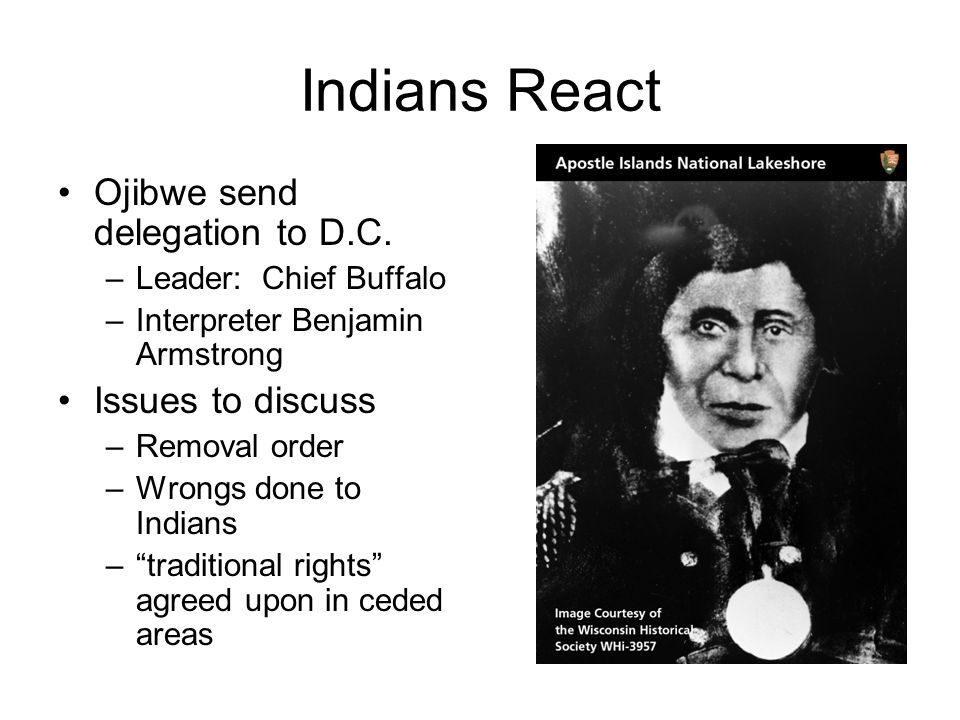 Indians React Ojibwe send delegation to D.C. Issues to discuss