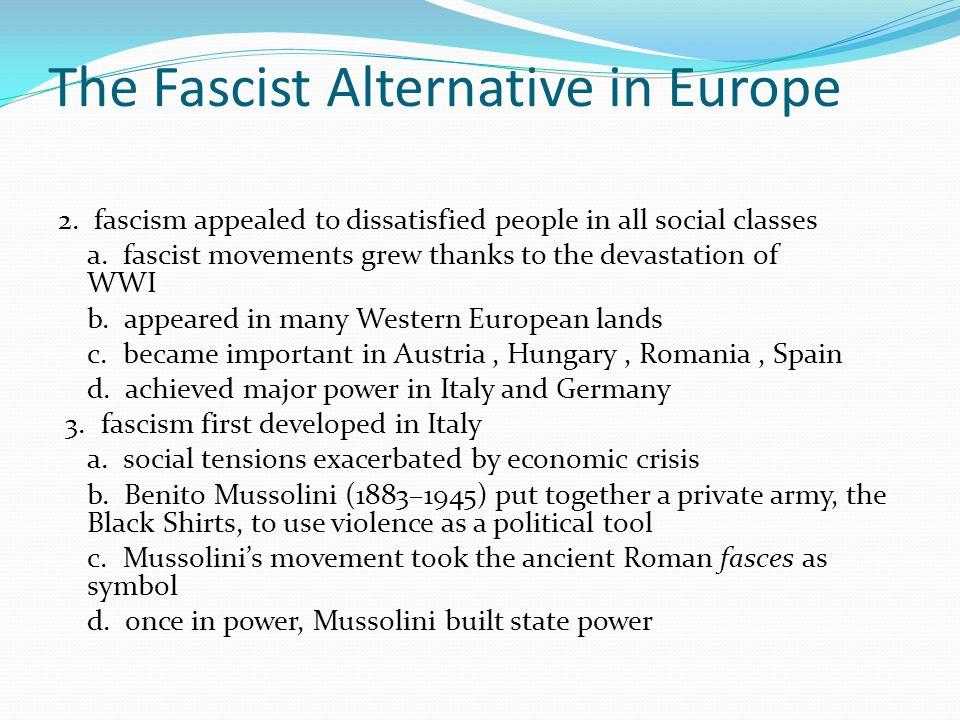 The Fascist Alternative in Europe