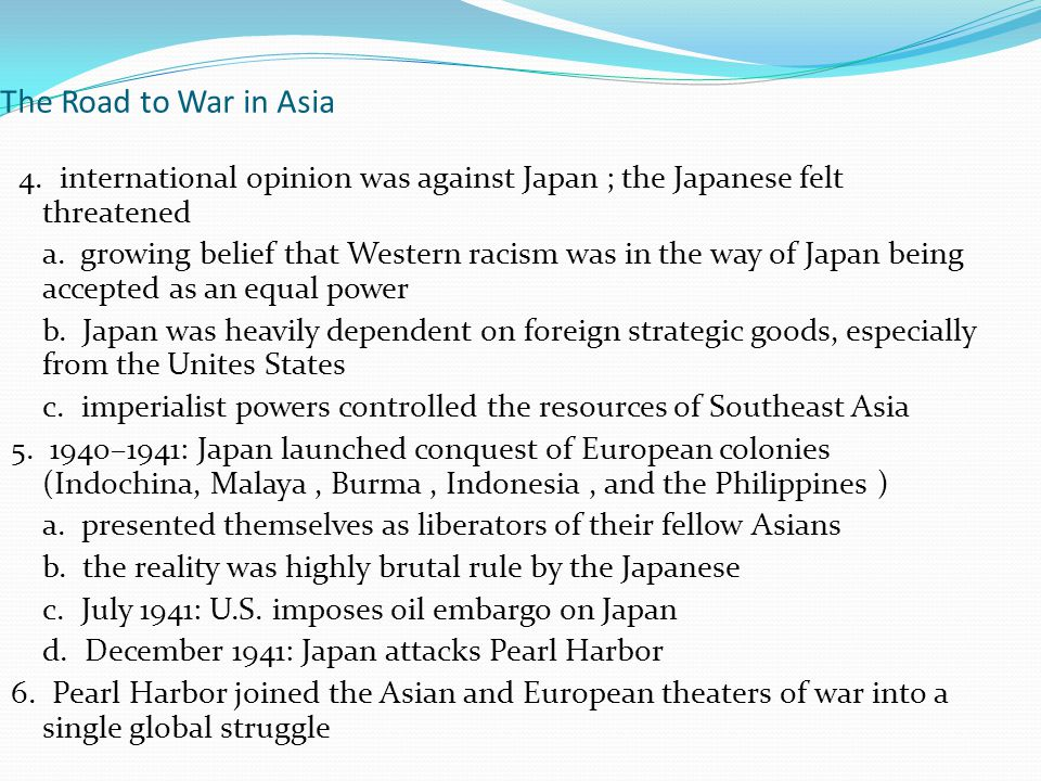 The Road to War in Asia