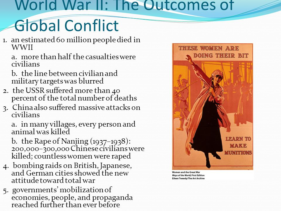 World War II: The Outcomes of Global Conflict