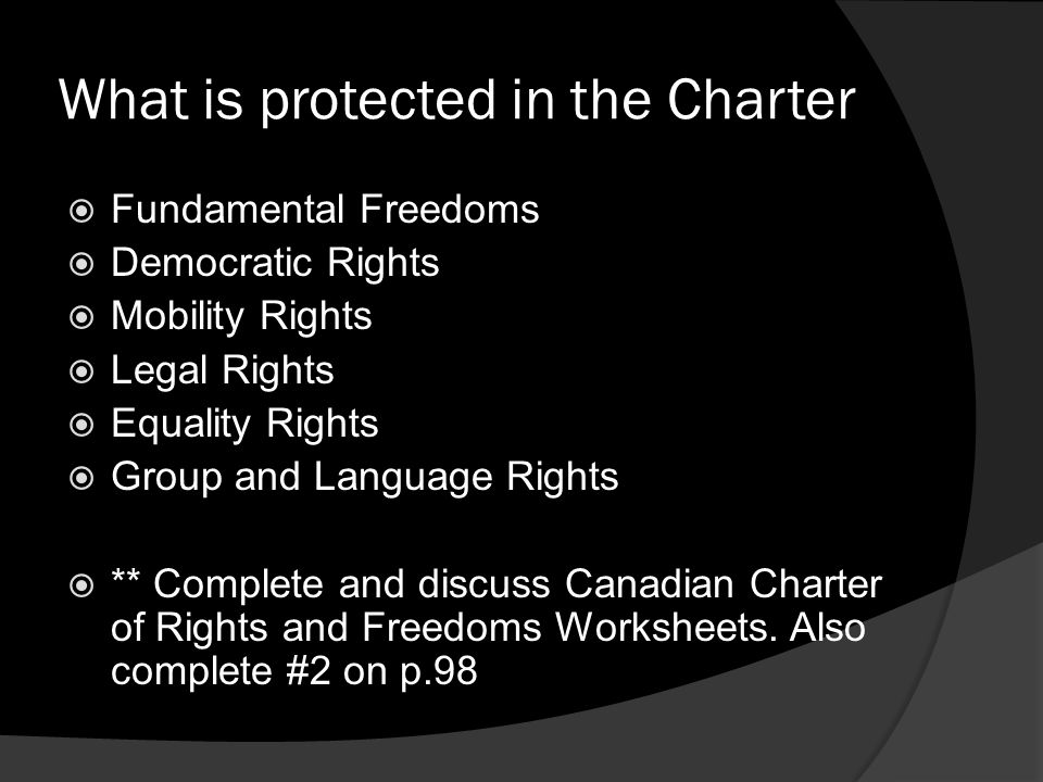 What is protected in the Charter