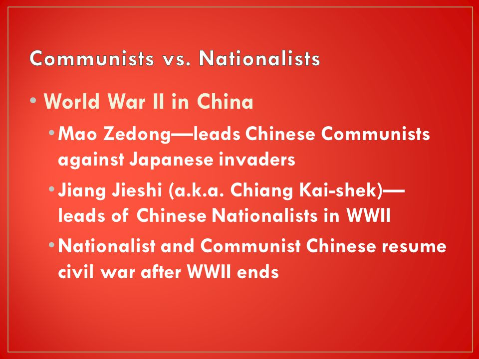 33 2 communists take power in china ppt