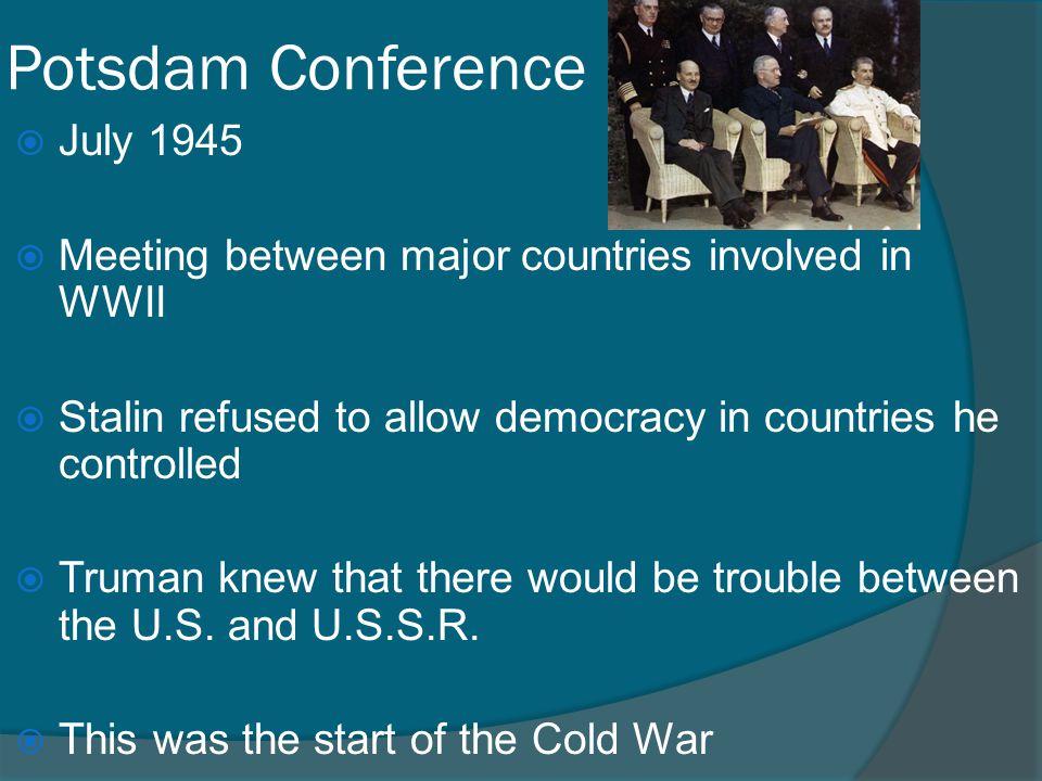 Potsdam Conference July 1945