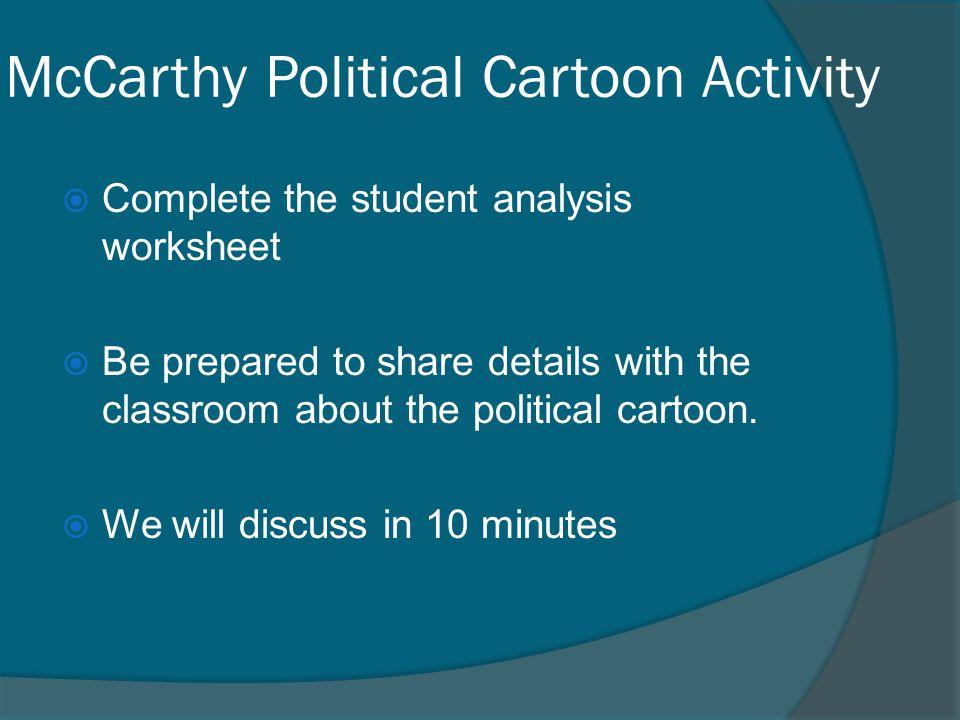 McCarthy Political Cartoon Activity