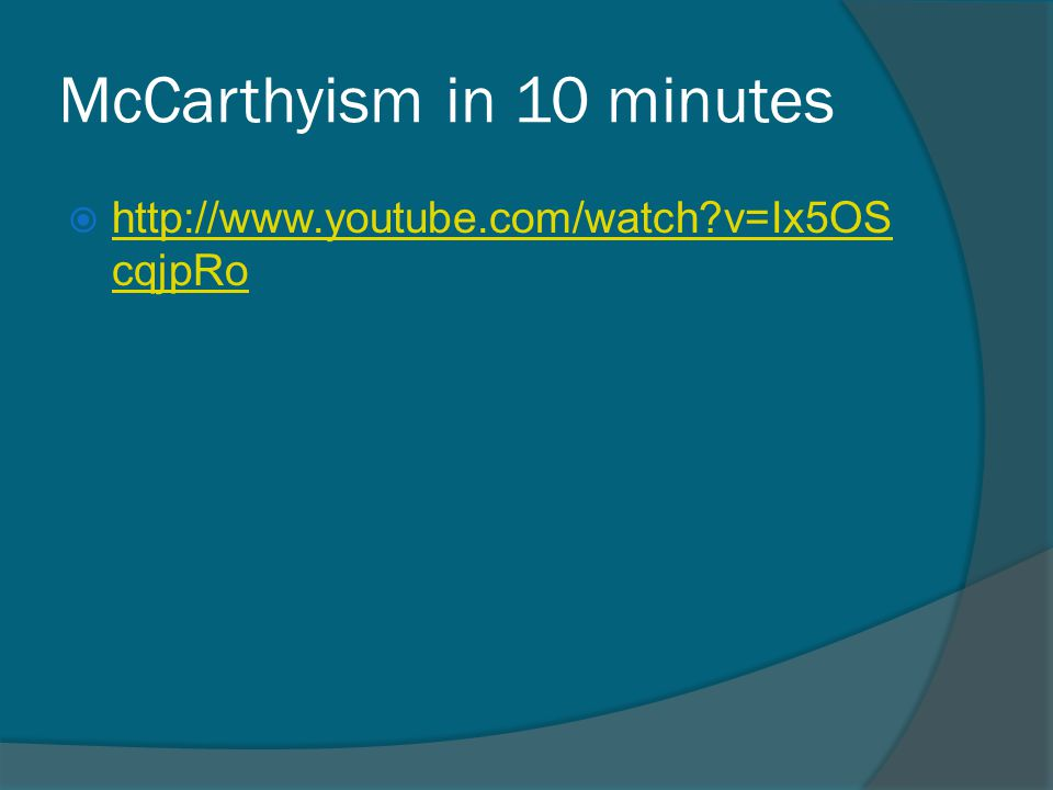 McCarthyism in 10 minutes