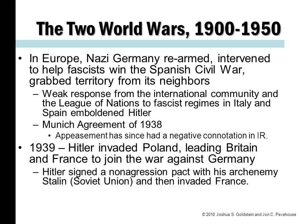 The Two World Wars, 1900-1950