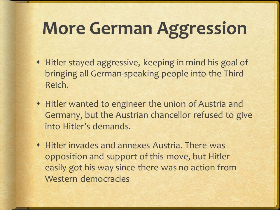 More German Aggression