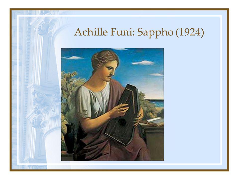 Achille Funi: Sappho (1924)