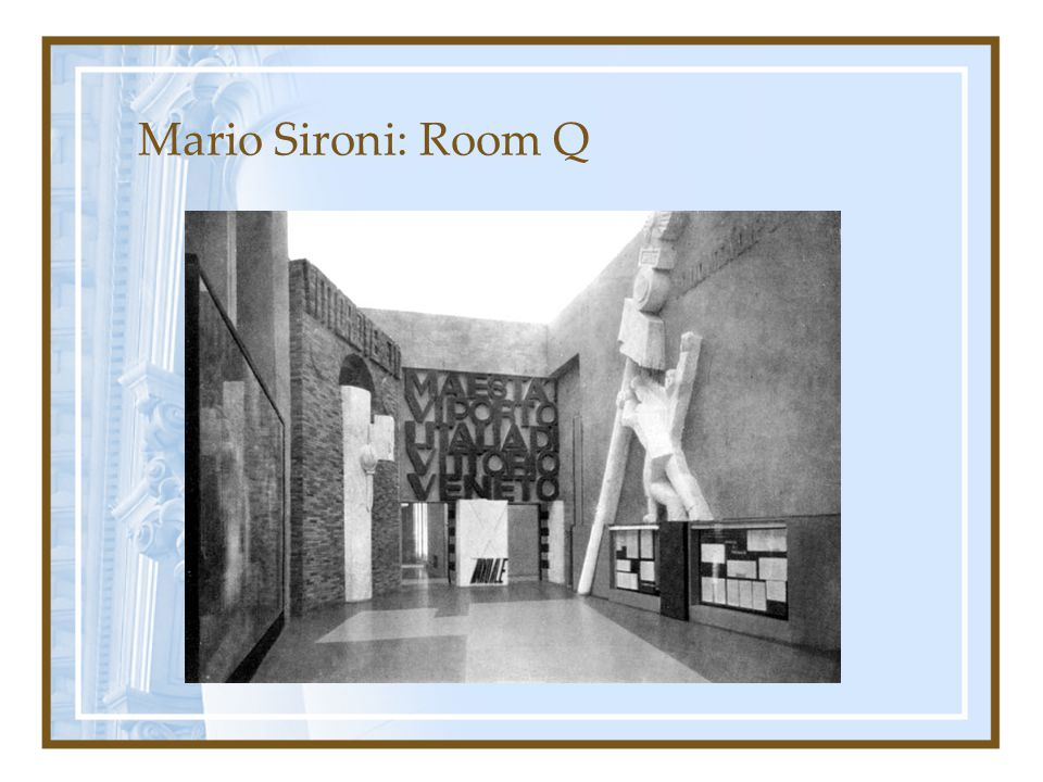 Mario Sironi: Room Q