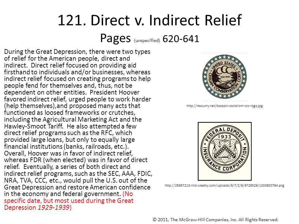 121. Direct v. Indirect Relief Pages (unspecified) 620-641