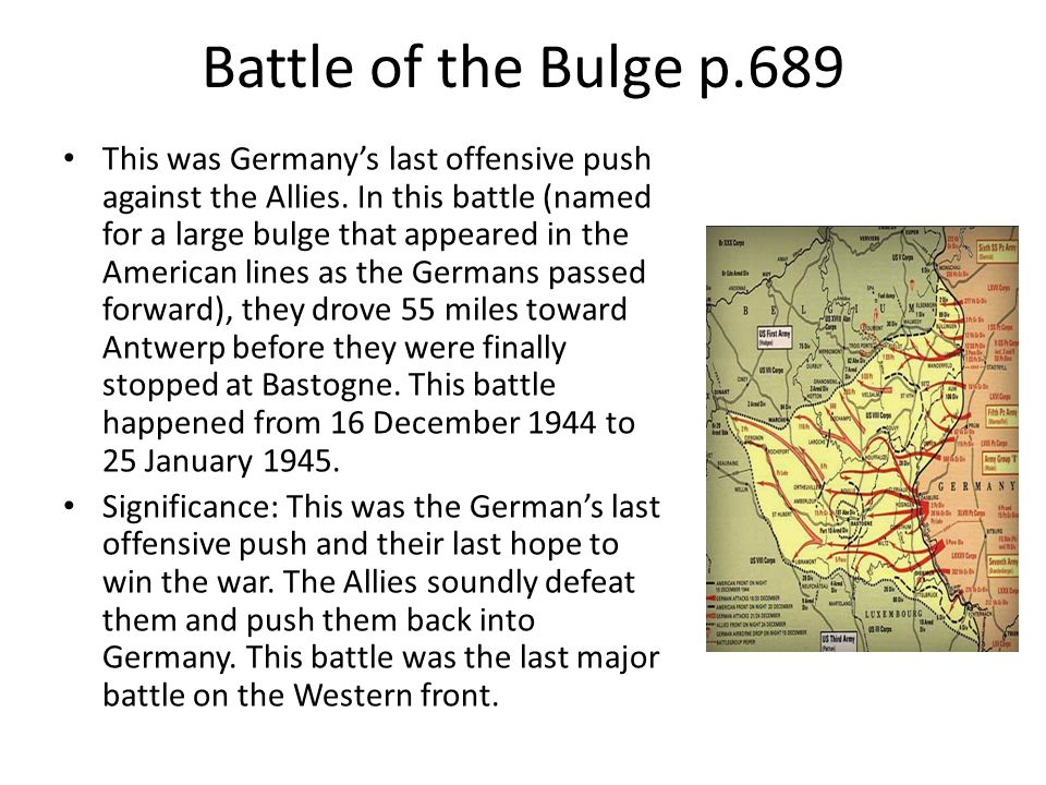 Battle of the Bulge p.689