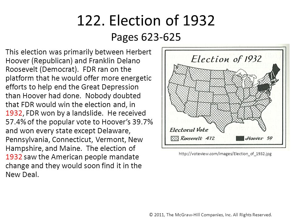 122. Election of 1932 Pages 623-625