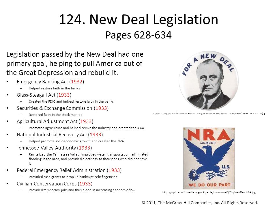 124. New Deal Legislation Pages 628-634