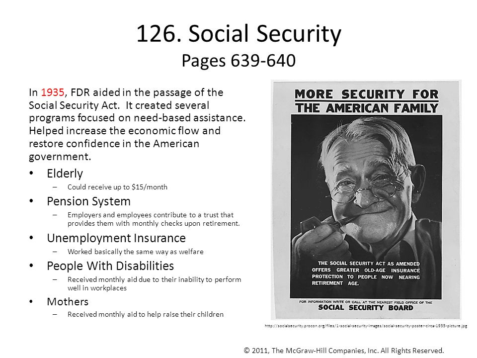 126. Social Security Pages 639-640
