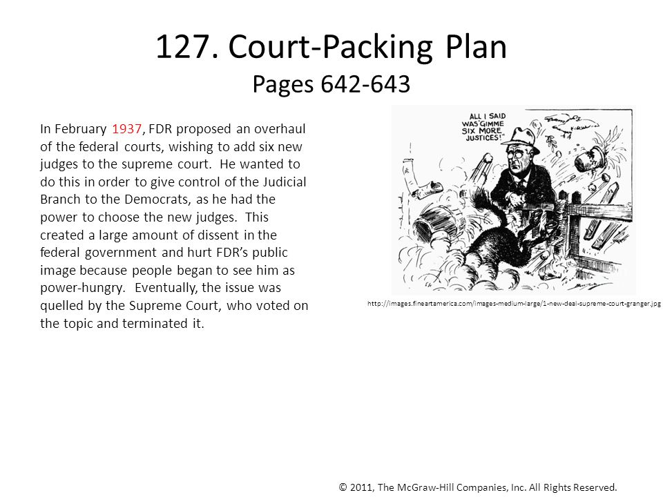 127. Court-Packing Plan Pages 642-643