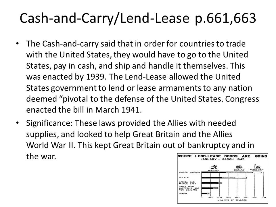 Cash-and-Carry/Lend-Lease p.661,663