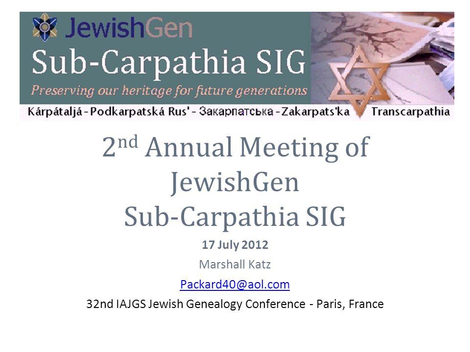 32nd IAJGS Jewish Genealogy Conference - Paris, France