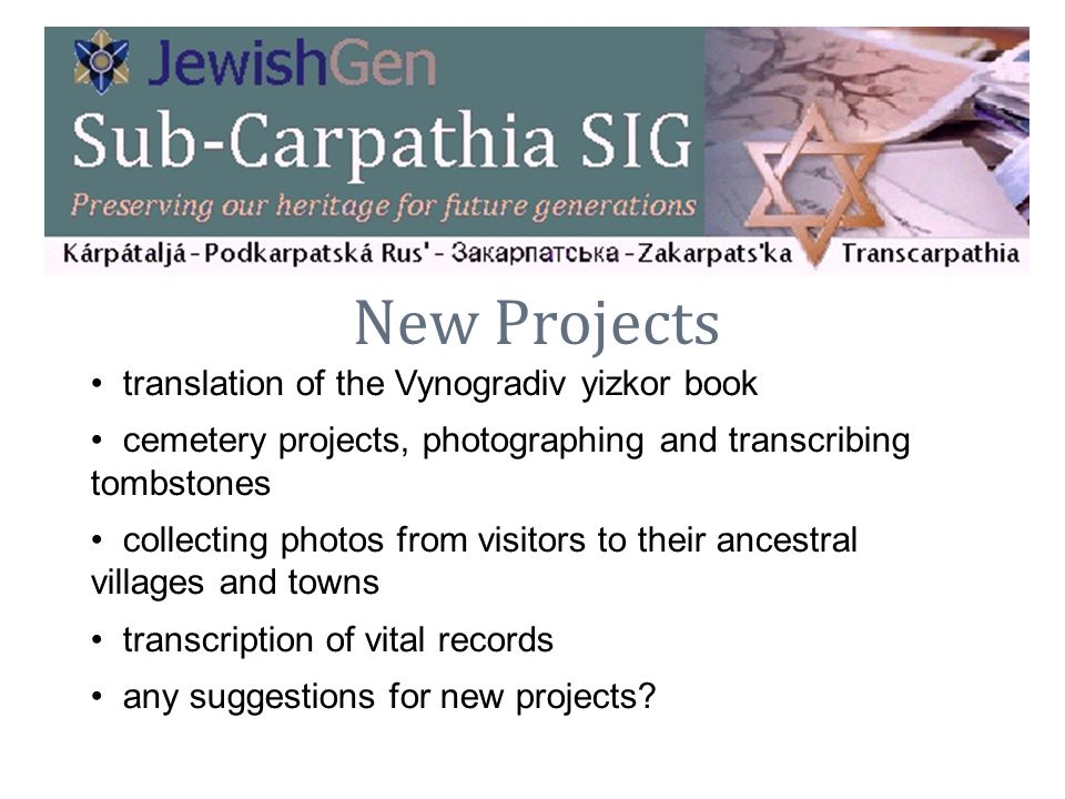 New Projects translation of the Vynogradiv yizkor book